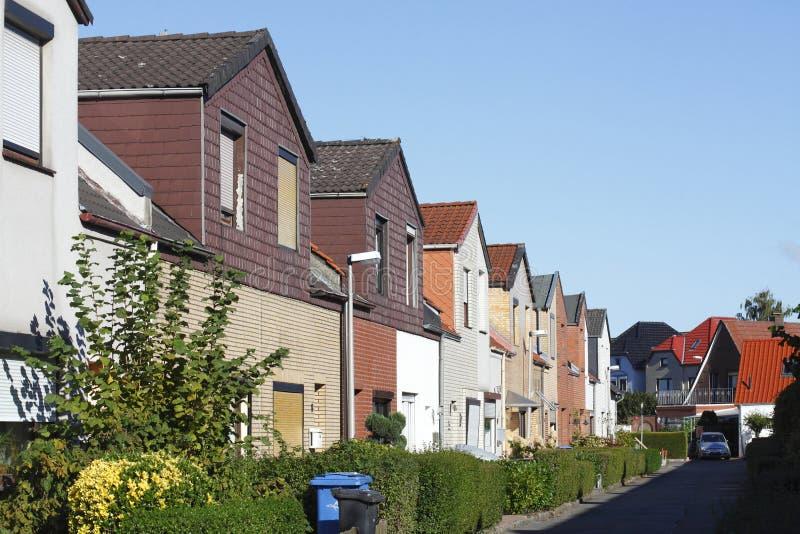 Casas de fila residenciales, Alemania, Europa imágenes de archivo libres de regalías