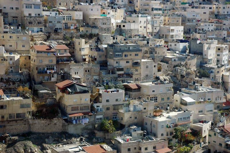 Casas de Jerusalem imagem de stock royalty free