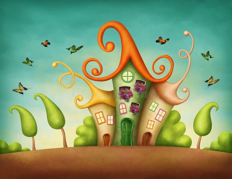 Casas de la fantasía ilustración del vector