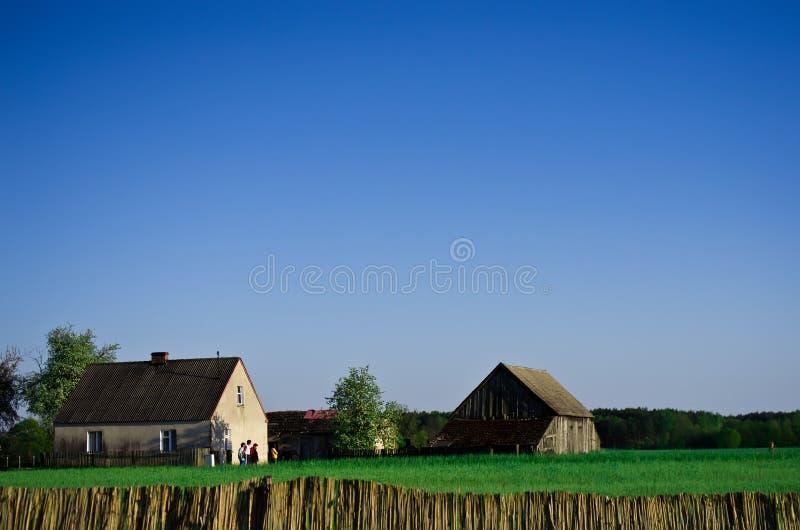 Casas de la granja en Polonia imágenes de archivo libres de regalías