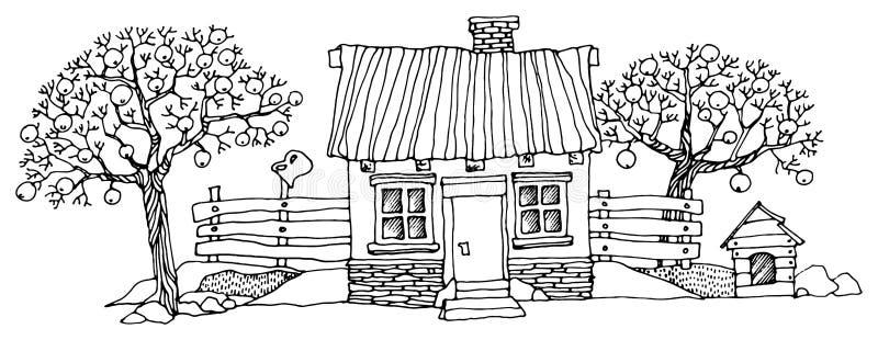 Casas de la historieta ilustración del vector