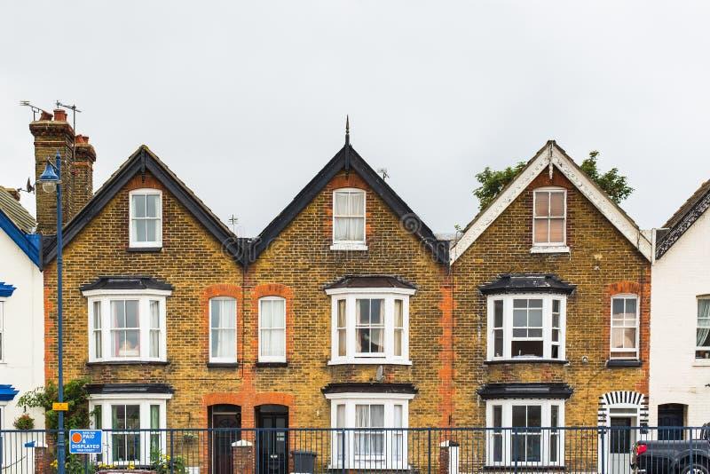 Casas de la terraza fotos de archivo