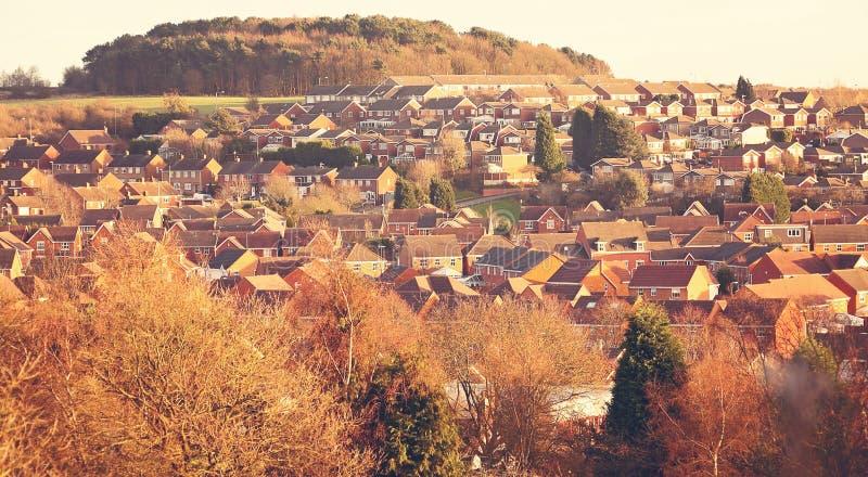 Casas de la vivienda de la urbanización fotos de archivo libres de regalías