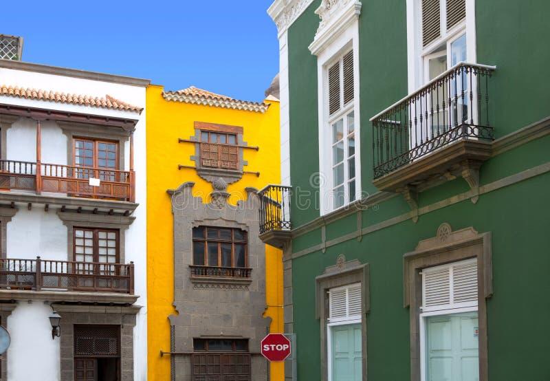 Casas de Las Palmas de Gran Canaria Vegueta imagen de archivo libre de regalías