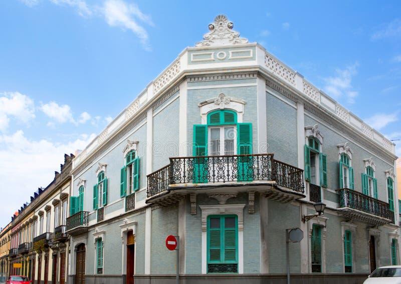 Casas de Las Palmas de Gran Canaria Veguetal foto de stock