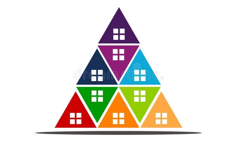 Casas de las propiedades inmobiliarias?, planos para la venta o para el alquiler libre illustration