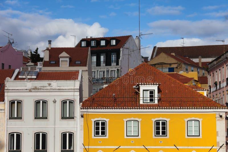Casas de Lisboa fotos de archivo