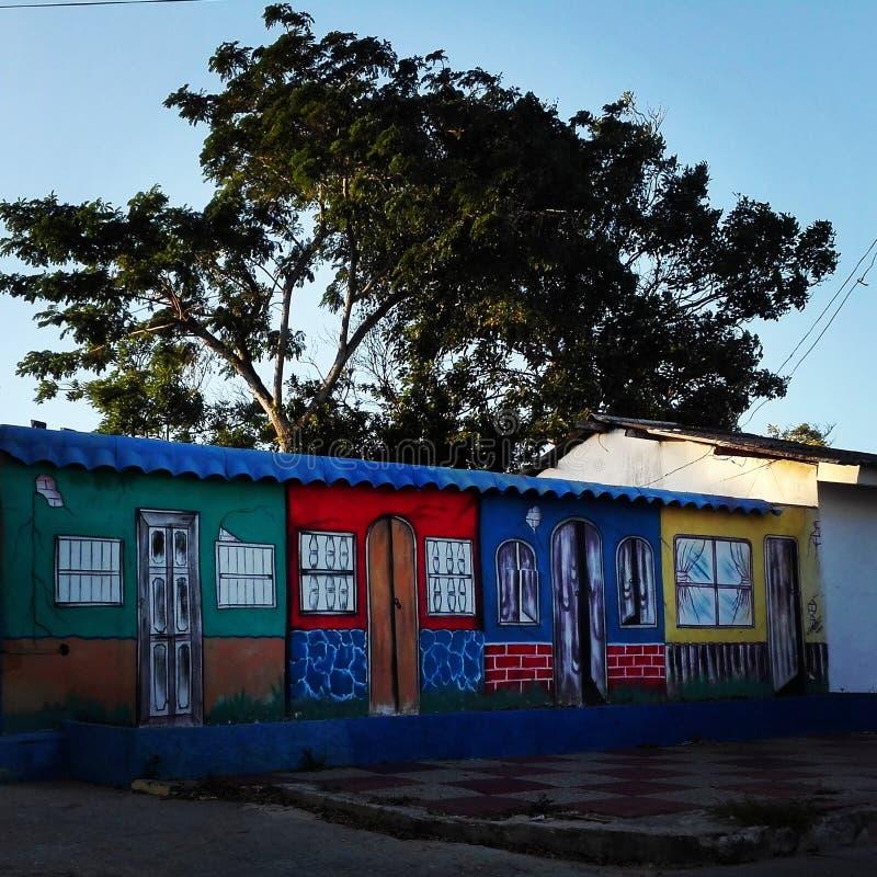 Casas de Littlel imagenes de archivo