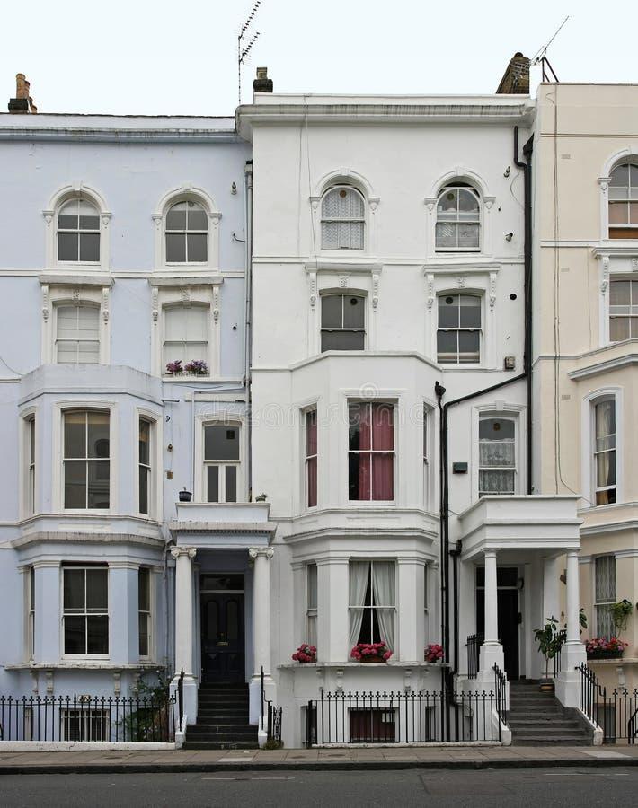 Casas de Londres fotografía de archivo