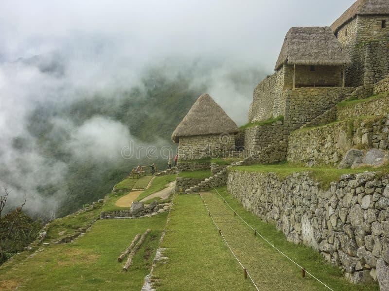Casas de Machu Picchu fotografia de stock