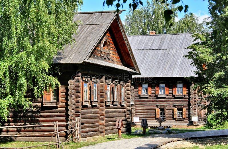Casas de madeira fotos de stock