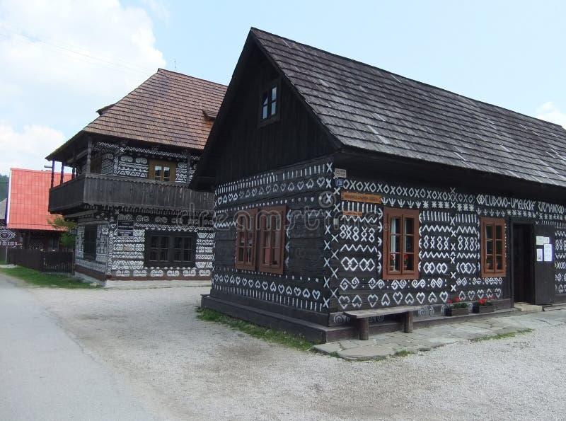 Casas de madeira imagem de stock royalty free