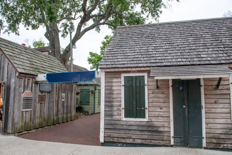 Casas de madeira de St Augustine, Florida foto de stock