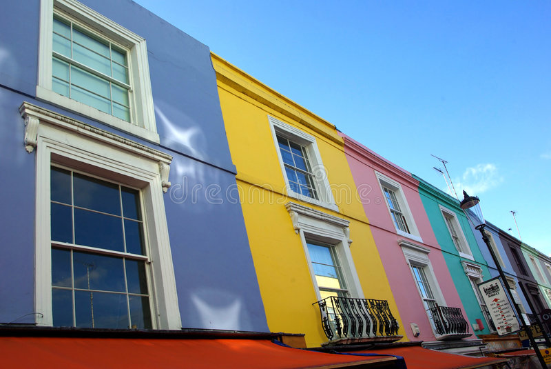 Casas de Notting Hill fotografia de stock royalty free