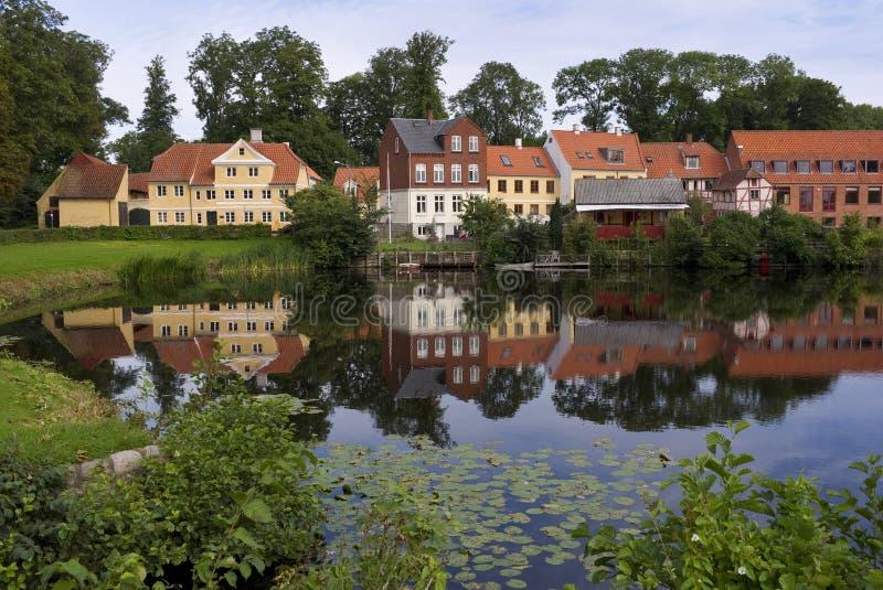 Casas de Nyborg Dinamarca foto de stock royalty free