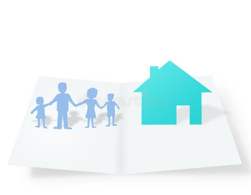 Casas de papel stock de ilustración