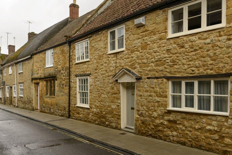 Casas de pedra em Sherborne, Dorset imagens de stock royalty free