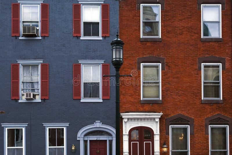 Casas de Philadelphia fotografía de archivo libre de regalías