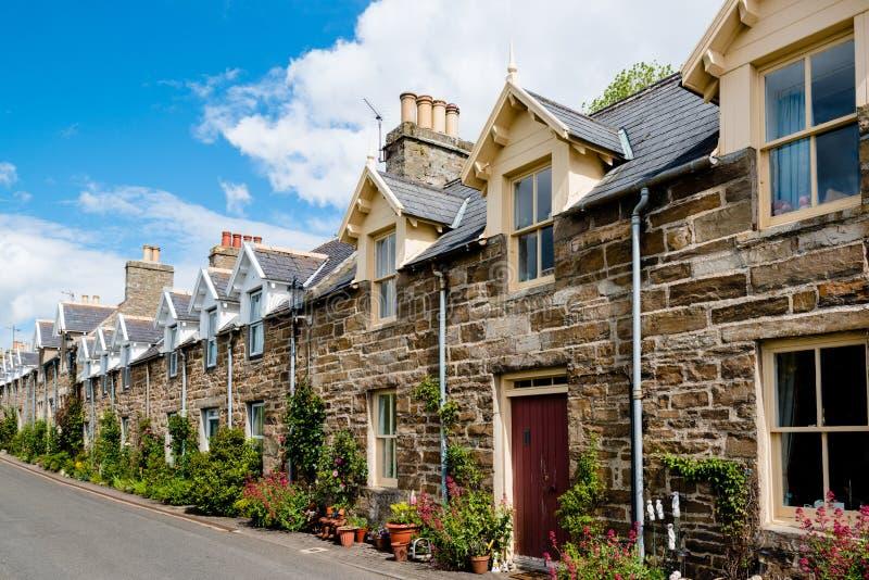 Casas de piedra escocesas tradicionales imagen de archivo libre de regalías