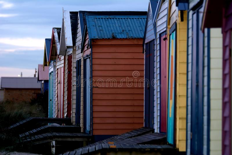 Casas de playa imagen de archivo