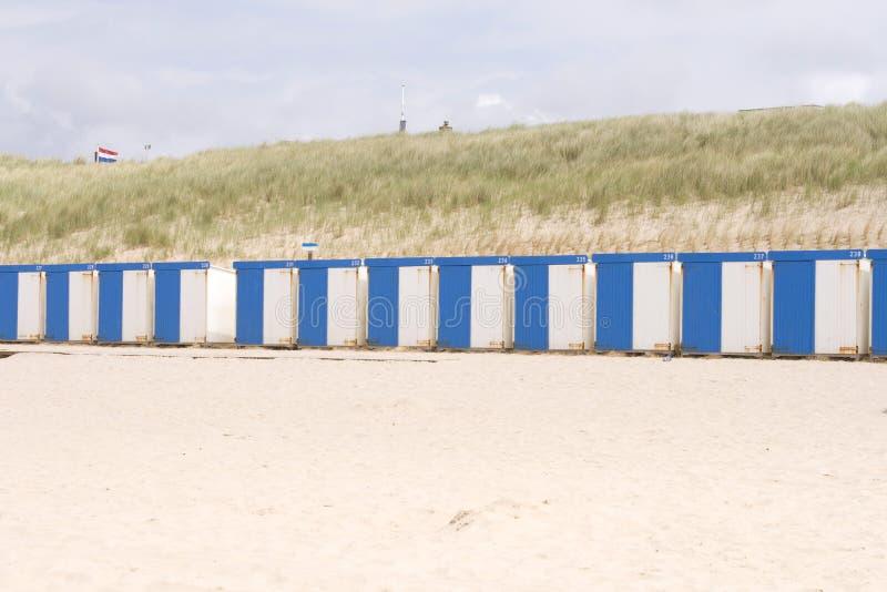 Casas de playa en una fila fotografía de archivo