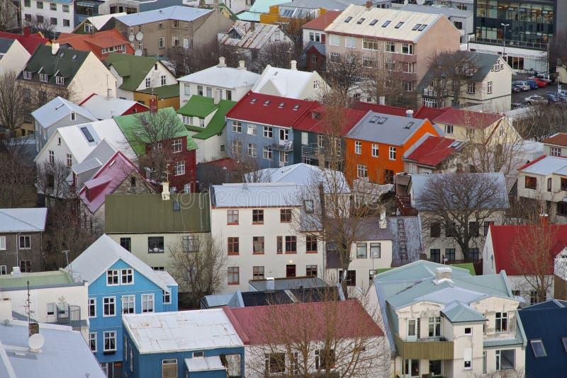 Casas de Reykjavik, Islandia foto de archivo libre de regalías