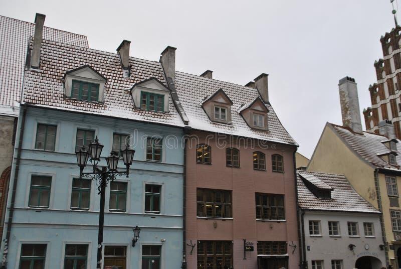 Casas de Riga imagens de stock royalty free