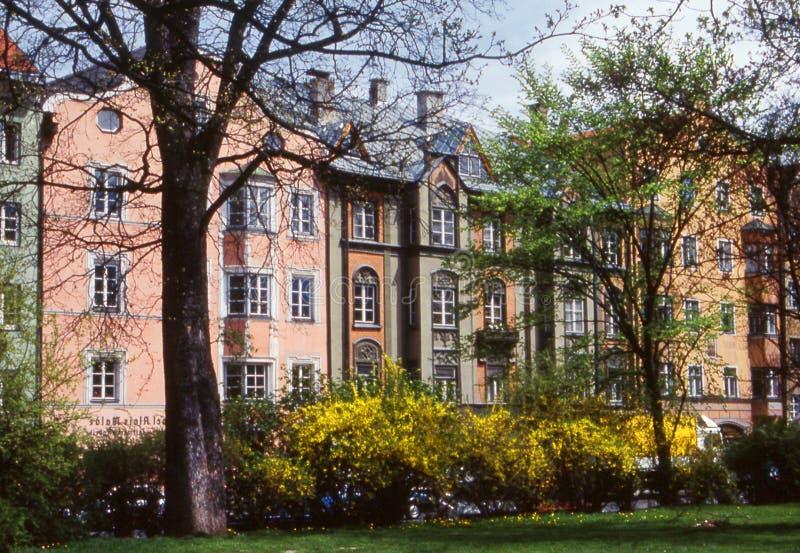 Casas de Salzburg imagem de stock