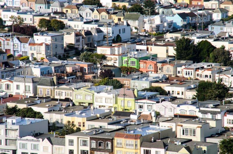 Casas de San Francisco foto de stock royalty free