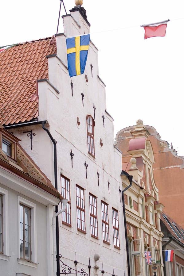 Casas de Suecia Kalmar foto de archivo libre de regalías