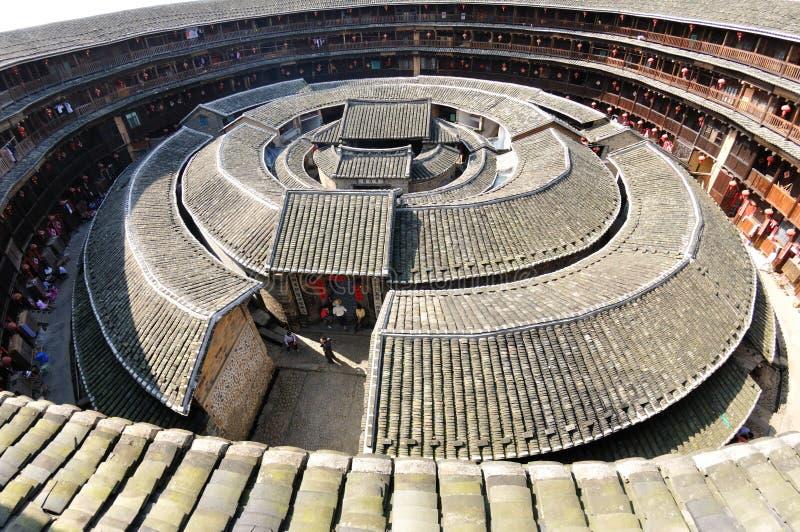 Casas de tierra (Tulou), provincia de Fujian imagen de archivo libre de regalías
