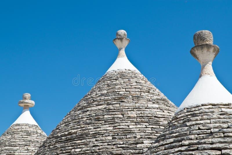 Casas de Trulli Alberobello Puglia Italy fotografia de stock