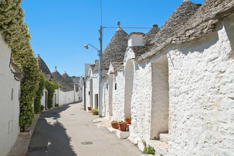 Casas de Trulli Alberobello Puglia Italy imagem de stock