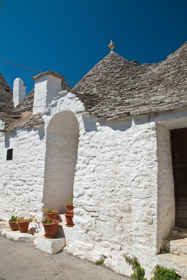 Casas de Trulli Alberobello Puglia Italy imagens de stock