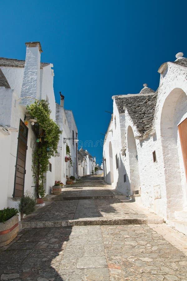 Casas de Trulli Alberobello Puglia Italy fotografia de stock royalty free