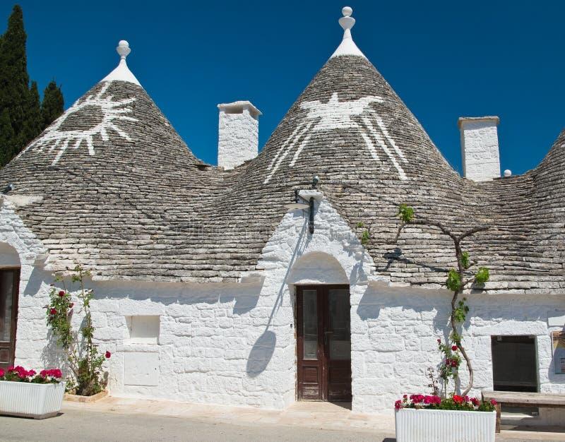 Casas de Trulli Alberobello Puglia Italy imagens de stock royalty free