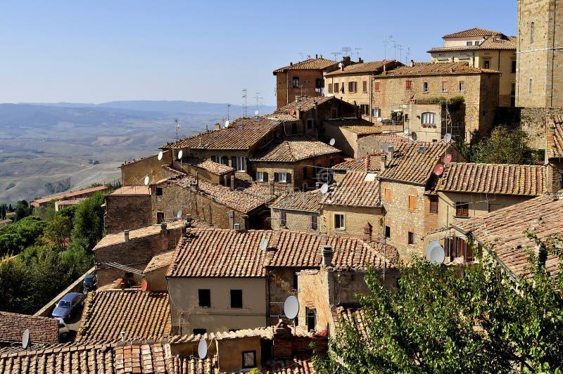 Casas de Volterra fotografia de stock royalty free