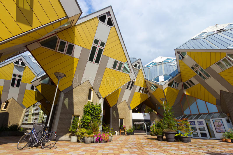 Casas del cubo de Rotterdam foto de archivo libre de regalías