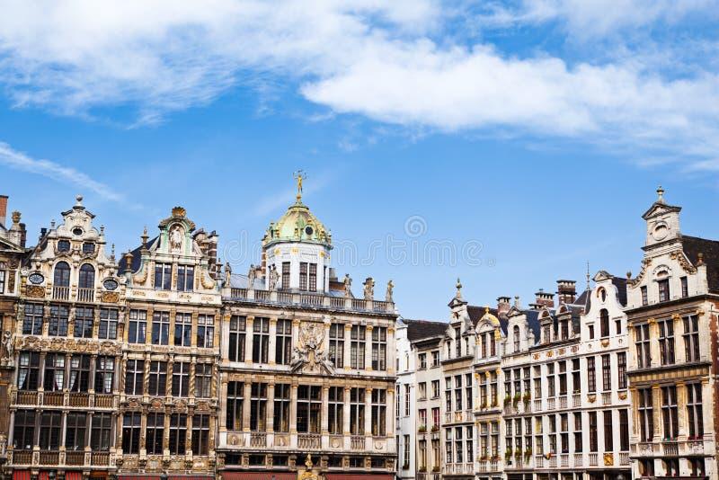 Casas del gremio en el lugar magnífico en Bruselas foto de archivo