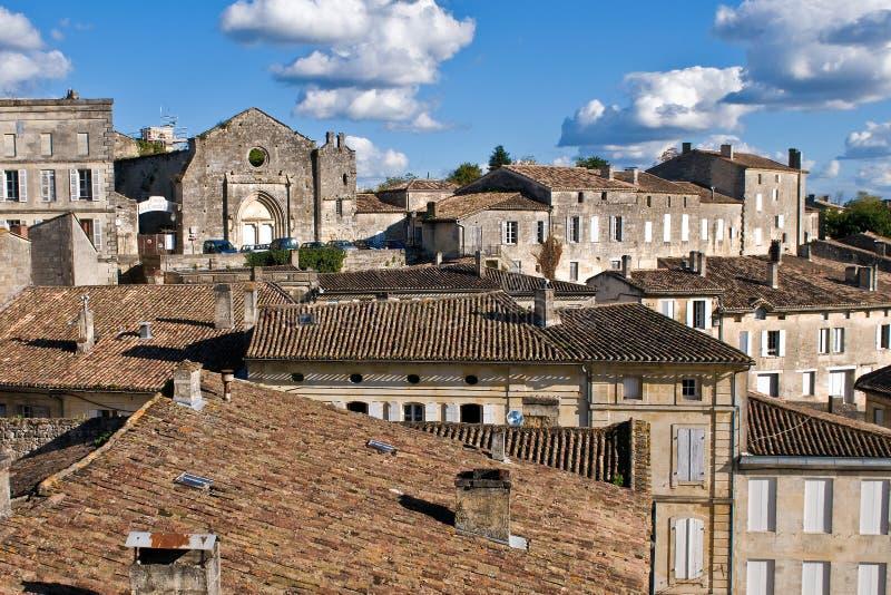 Casas del santo Emilion fotografía de archivo libre de regalías