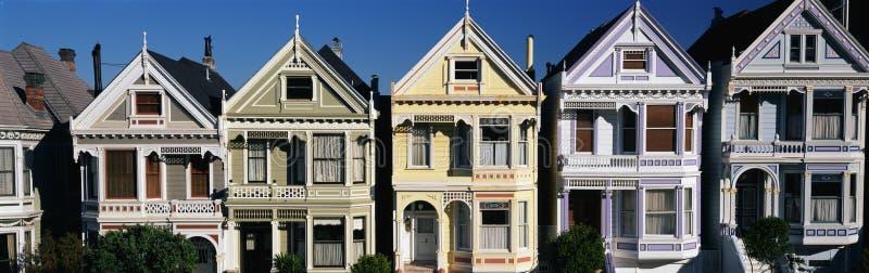 Casas del Victorian, San Francisco, CA fotos de archivo