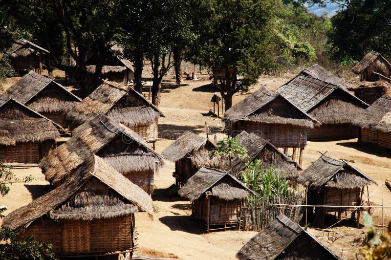 Casas del zanco - Laos foto de archivo libre de regalías