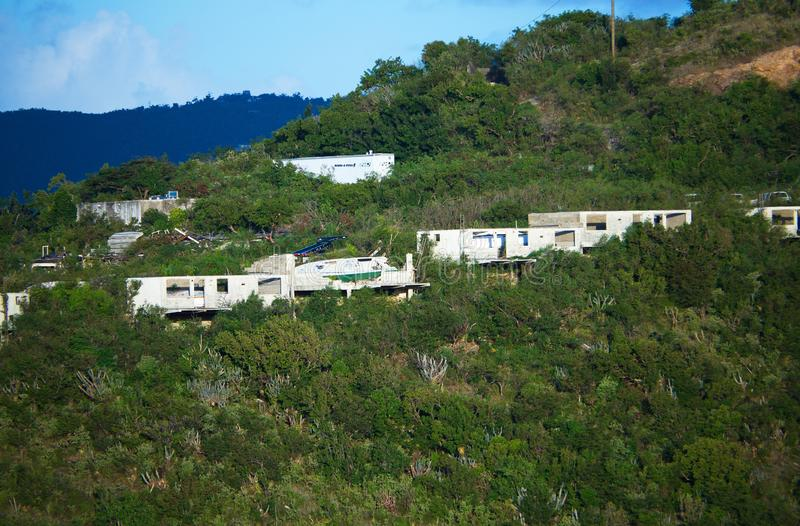 Casas destruídas do furacão fotos de stock royalty free