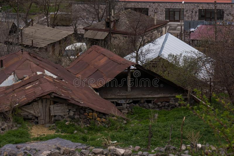 Casas divididas velhas em Geórgia foto de stock
