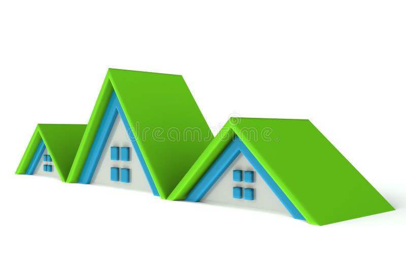 Casas do ícone de Real Estate ilustração royalty free