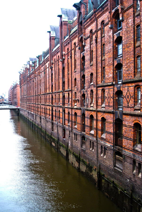 Casas do armazenamento de Hamburgo imagem de stock royalty free