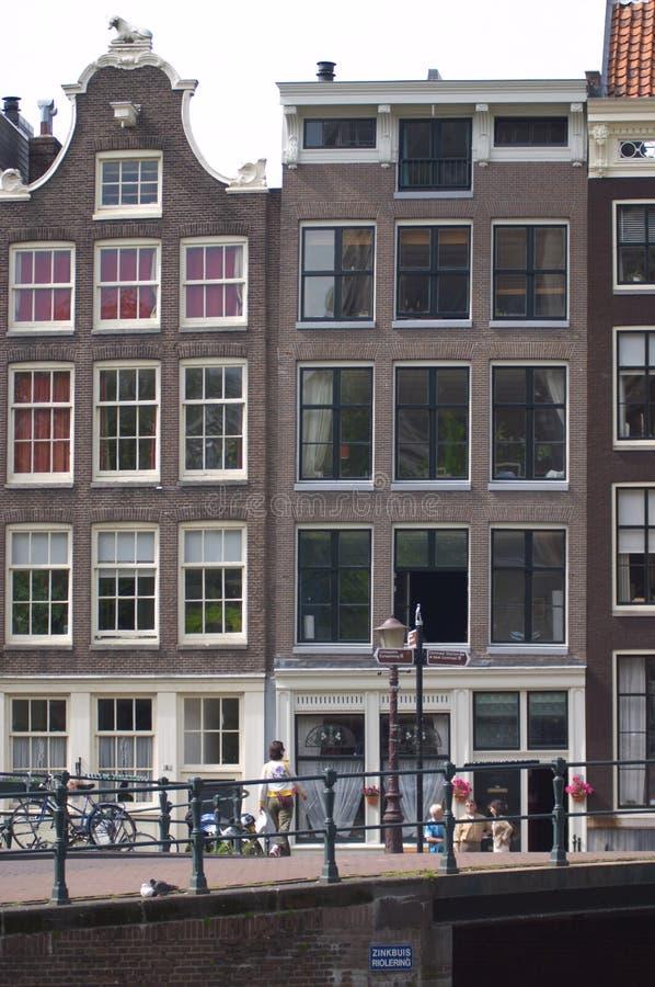 Casas do canal de Amsterdão foto de stock royalty free