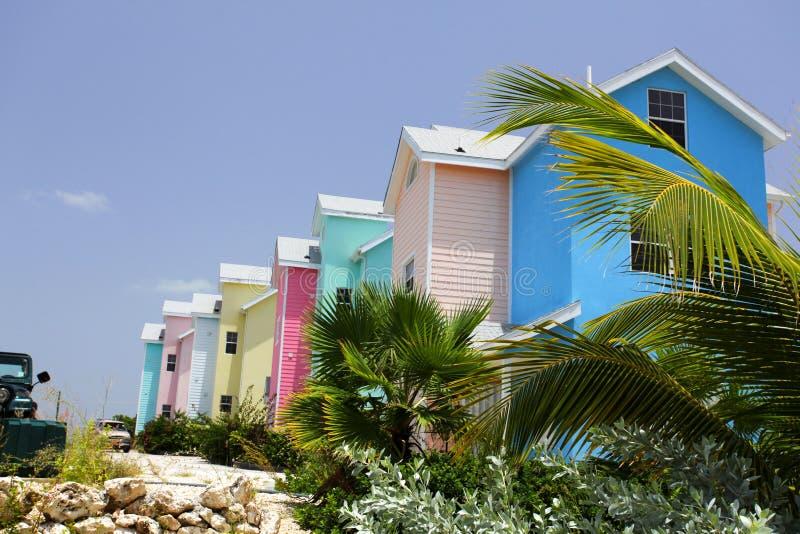 Casas do Cararibe do colorfull fotos de stock