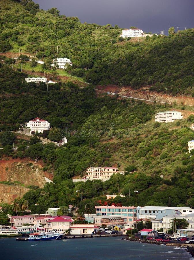 Casas do console de Tortola imagens de stock