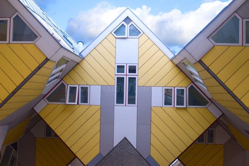 Casas do cubo foto de stock royalty free
